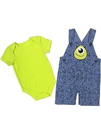 Disney Baby Boy's Monster Shortall/Creeper Shorts Set