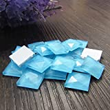 Amaonm® 100pcs 10mm Removable Colorful 3D Square Crystal Glass Diamond Wall Decals Wall Stickers Murals Home Art Decorations for Kids Girls Bedroom Laptop Phone Windows Playroom (Blue)