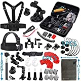 Vanwalk Basic Common Outdoor Sports Kit for GoPro Hero 5 / Session 5/4/3/2/1, Accessory Bundle Set for AKASO, DBPOWER, SJCAM Action Video Cameras(24 Items)