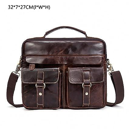 Amazon Com Leather Men Bag Business Briefcase Messenger Handbags