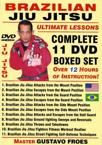 "Brazilian Jiu Jitsu ""Ultimate Lessons"" COMPLETE 11 DVD BOXED SET, Starring Brazilian Master Gustavo Froes"