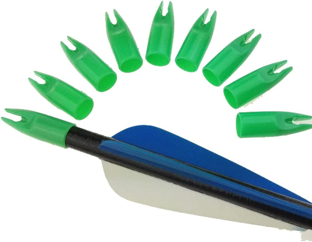 Details about  /30PCS 8mm Archery Arrow Nocks Plastic Tails For Wood Bamboo Shaft Bow /& Hunt TKI