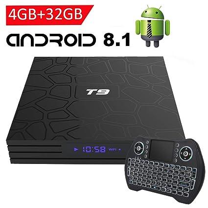 3122403dab8 EASYTONE Android 8.1 TV Box with 4GB RAM 32GB ROM