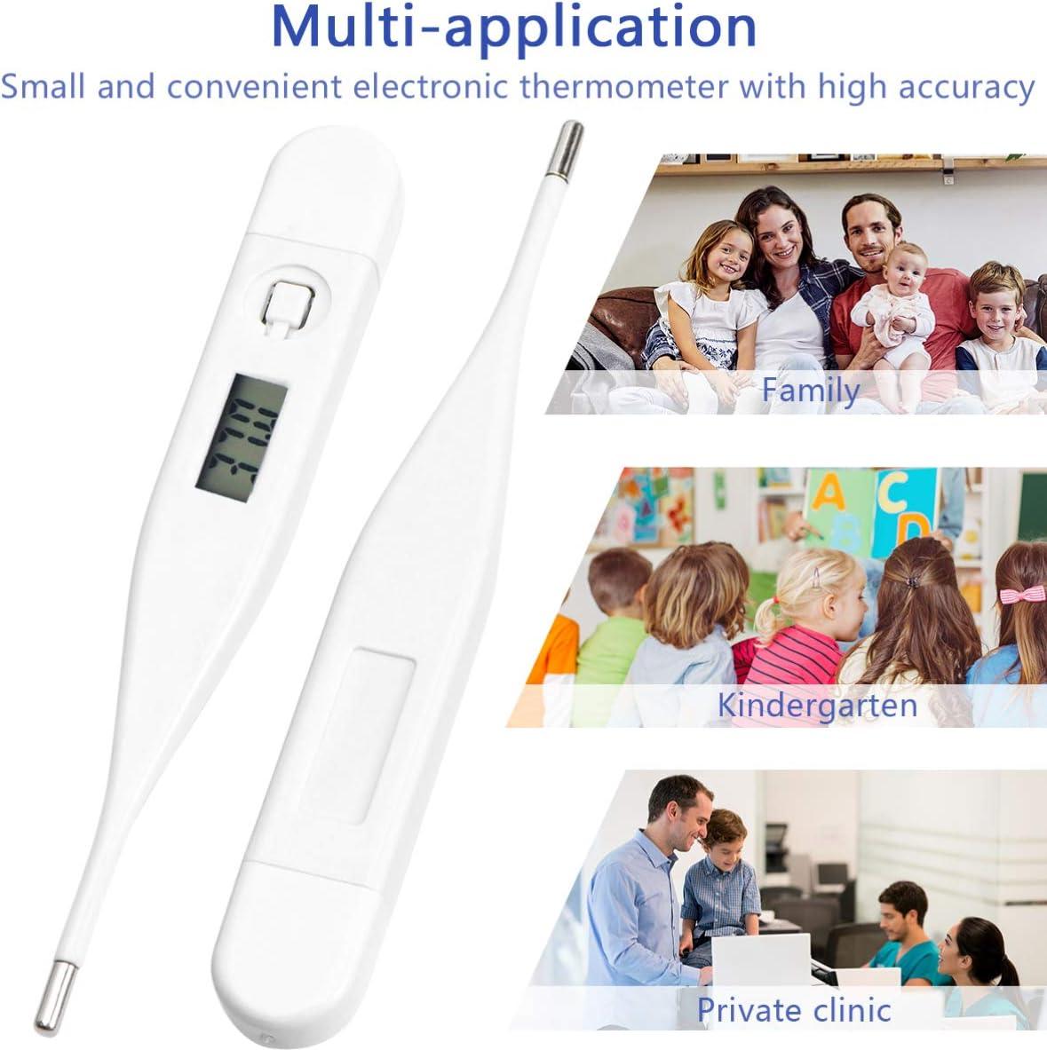 Digitales Thermometer Medizinisches K/örperthermometer f/ür Die Rektale Temperatur Der Achselh/öhle Zur Messung Der Zuf/älligen Farbe
