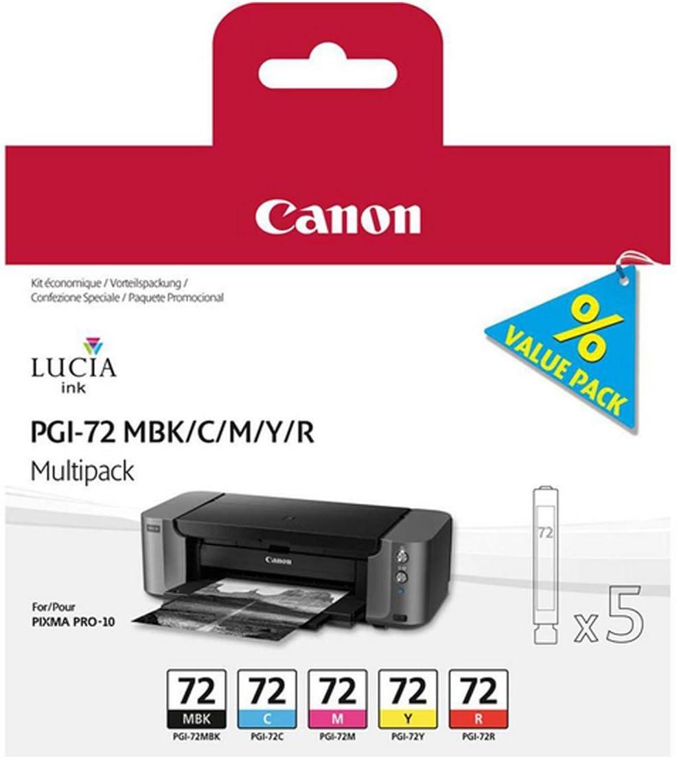 Canon Tinte Pgi 72 Mbk C M Y R Multipack Bürobedarf Schreibwaren