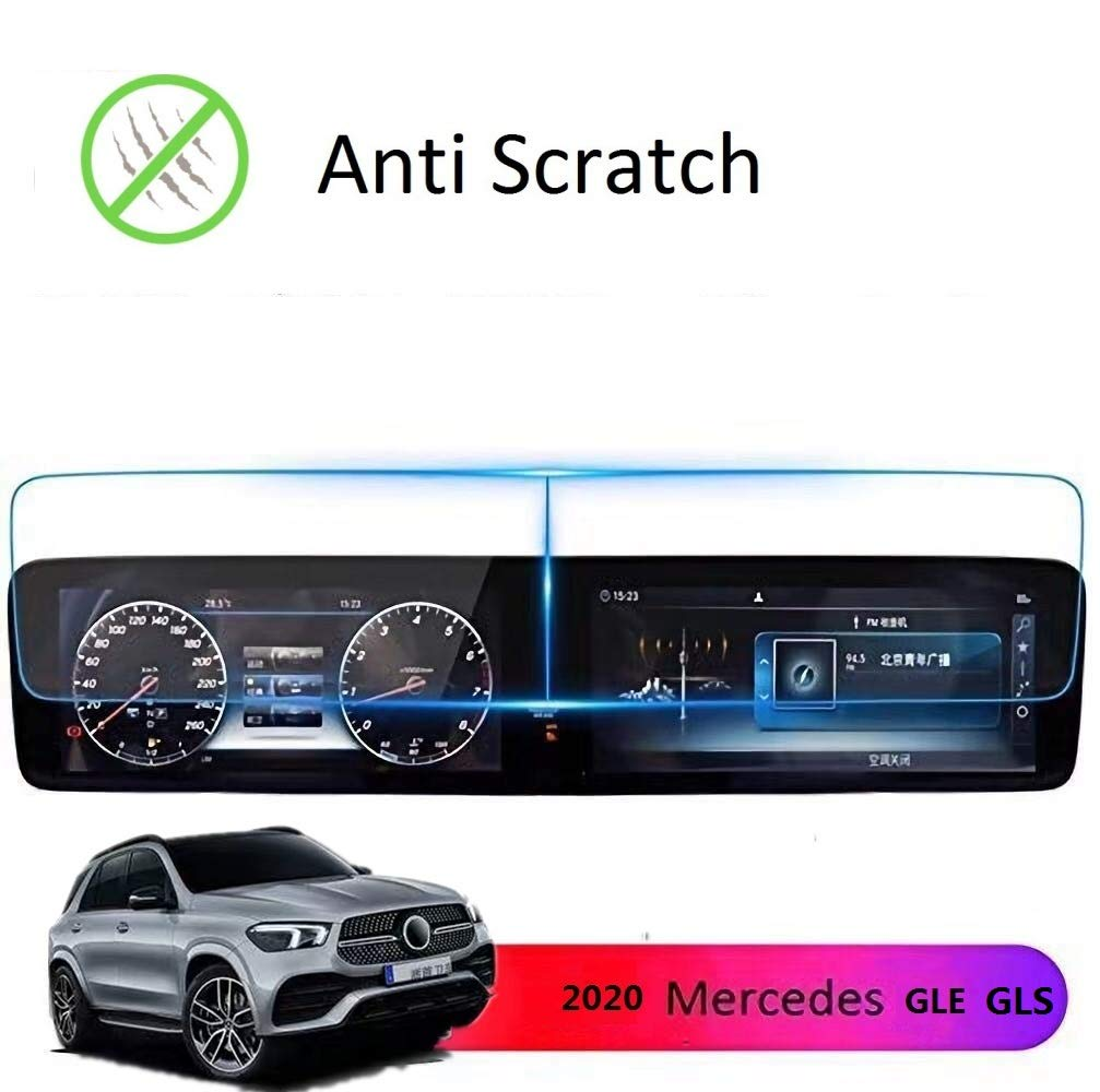 "V167 Mbux Dual 12.3/"" Screen Protection Accessories Premium Tempered Glass SATIS Screen Protector Compatible with 2019 2020 Mercedes Benz GLS GLE,Anti Glare Scratch,Shock-Resistant"