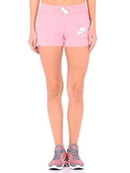 2bf412e7985f28 Nike W NSW Gym VNTG Short pour Femme, Rose (Bright Melon/Sail), L ...