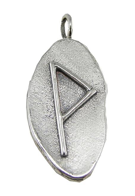 Amazon Sterling Silver Wonjo Rune Pendant Symbol For Joy And