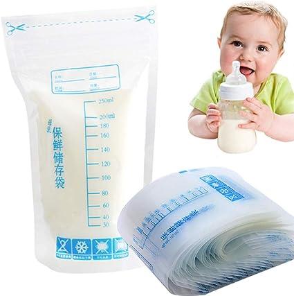 30 bolsas de almacenamiento de leche materna, 250 ml, cierre de ...