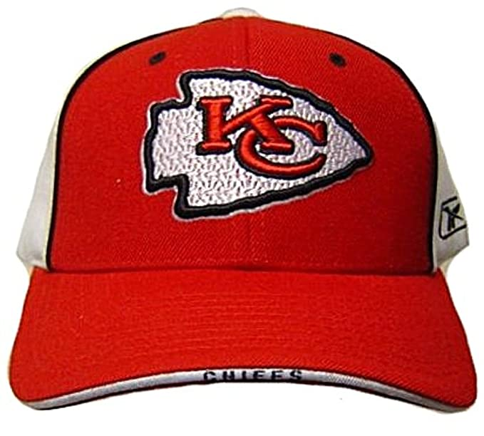 25aefb16c Amazon.com   Reebok NFL Kansas City Chiefs HAT CAP adjustable unisex adult Red  White   Clothing