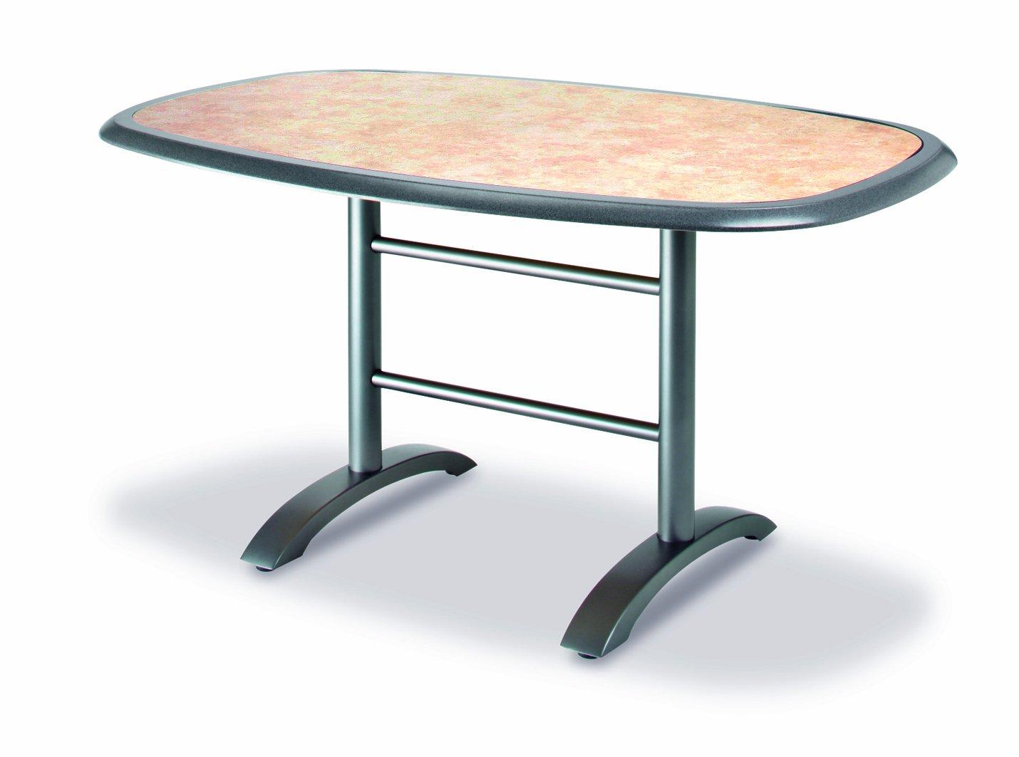 Best 43544555 Klapptisch Maestro oval, 146 x 94 cm, anthrazit / catalan