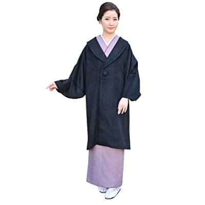 (キョウエツ) KYOETSU 和装コート レディース へちま衿 黒 ブラック ウール混生地 6