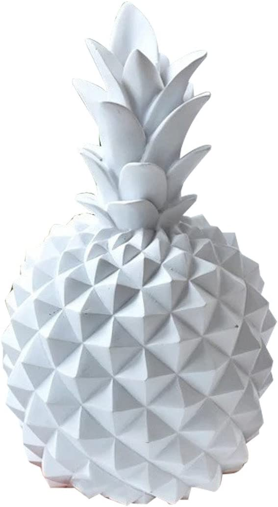 LKXHarleya Resin Pineapple Figurine Statue Room Decor, Pineapple Coin Piggy Bank Money Cans Boxes for Kids Adults, Creative Collectible Ornaments Crafts for Home Furnishings