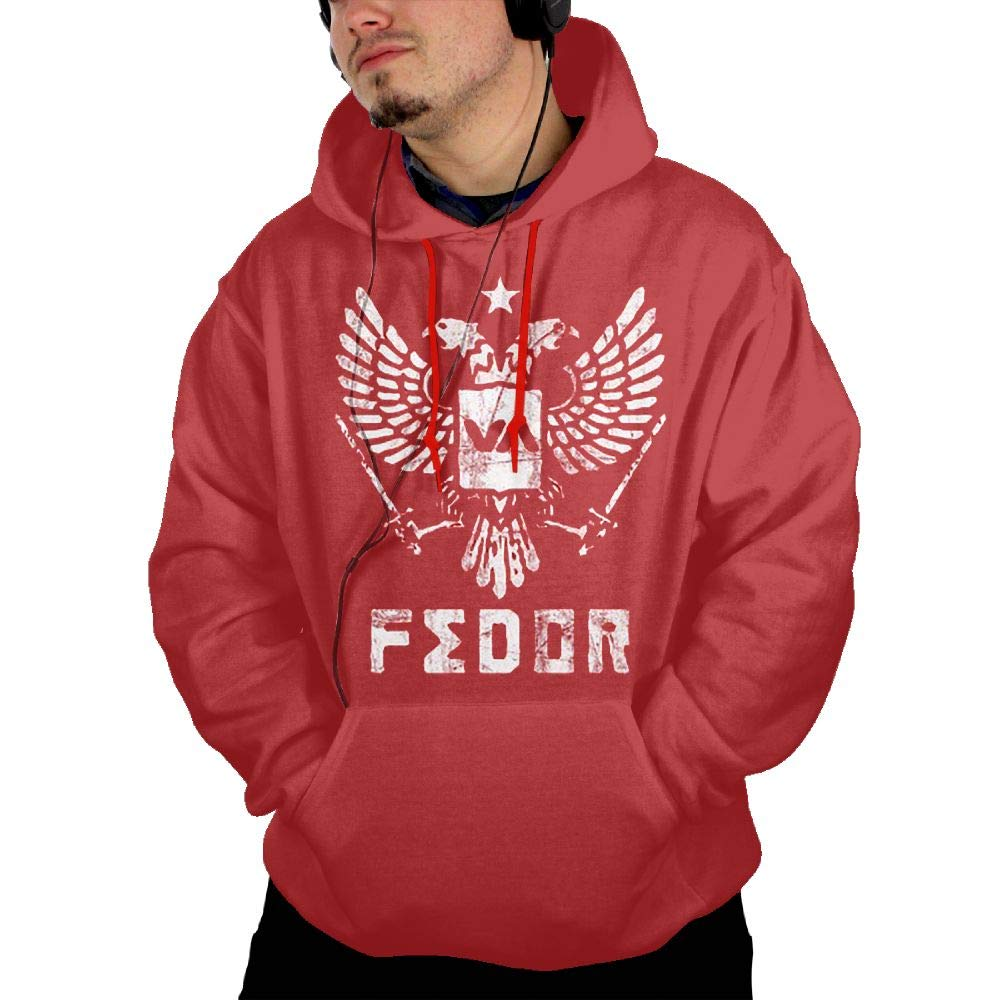 Red Small Givmegjvnd Man's Fedor Emelianenko Fighter Hoodie