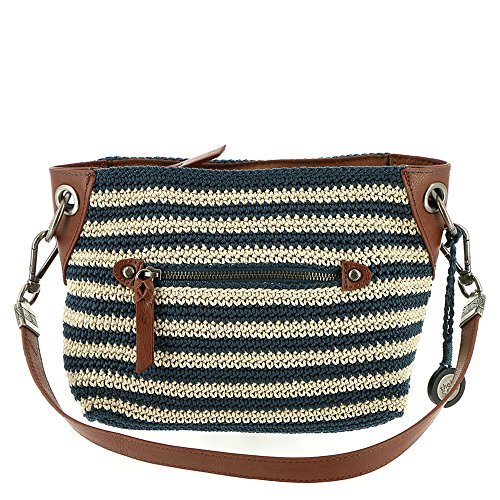 Crochet Hobo Bag - The Sak Indio Crochet Small Hobo (Vintage Eggshell Stripe)