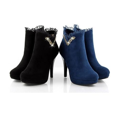 big sale 56196 c3ea7 WeenFashion Women's Import Frosting Suede Velvet Lining ...