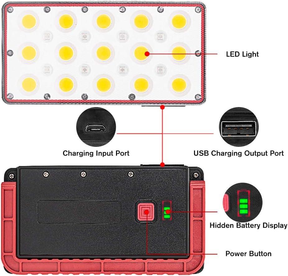 Cour Garage Entr/ée Winzwon Projecteur LED Rechargeable Projecteur Chantier 24W 2000LM 5 Modes de R/églables Lampe de Travail avec Rotation /à 180/° Lampe LED Ext/érieur pour Jardin