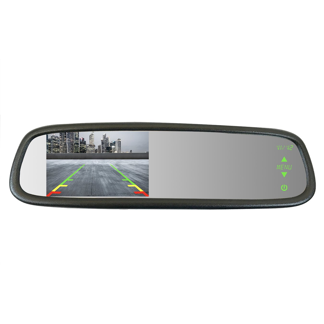 Master Tailgaters Sleek Rear View Mirror with Ultra Bright 4.3'' Auto Adjusting Brightness LCD - Universal Fit