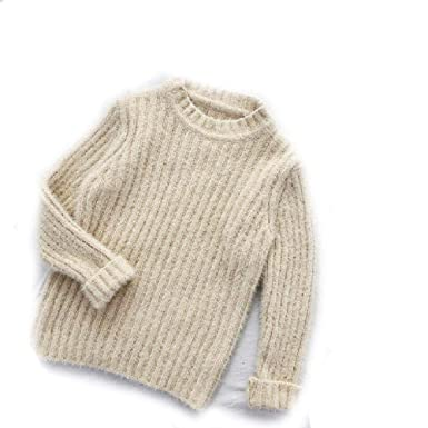fdf3fa344cd5 Amazon.com  BCVHGD Girls Sweaters Winter Solid Color Mink Cashmere ...