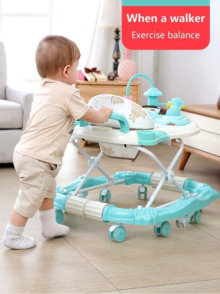 Olz Baby/Lauflernhilfe Multifunktions-Anti-Rollhand Push Jungen und M/ädchen Anti-o-Beine sch/ütteln Pferd auf das Baby Aktivit/ät 0-24months Linie sitzen Wanderer