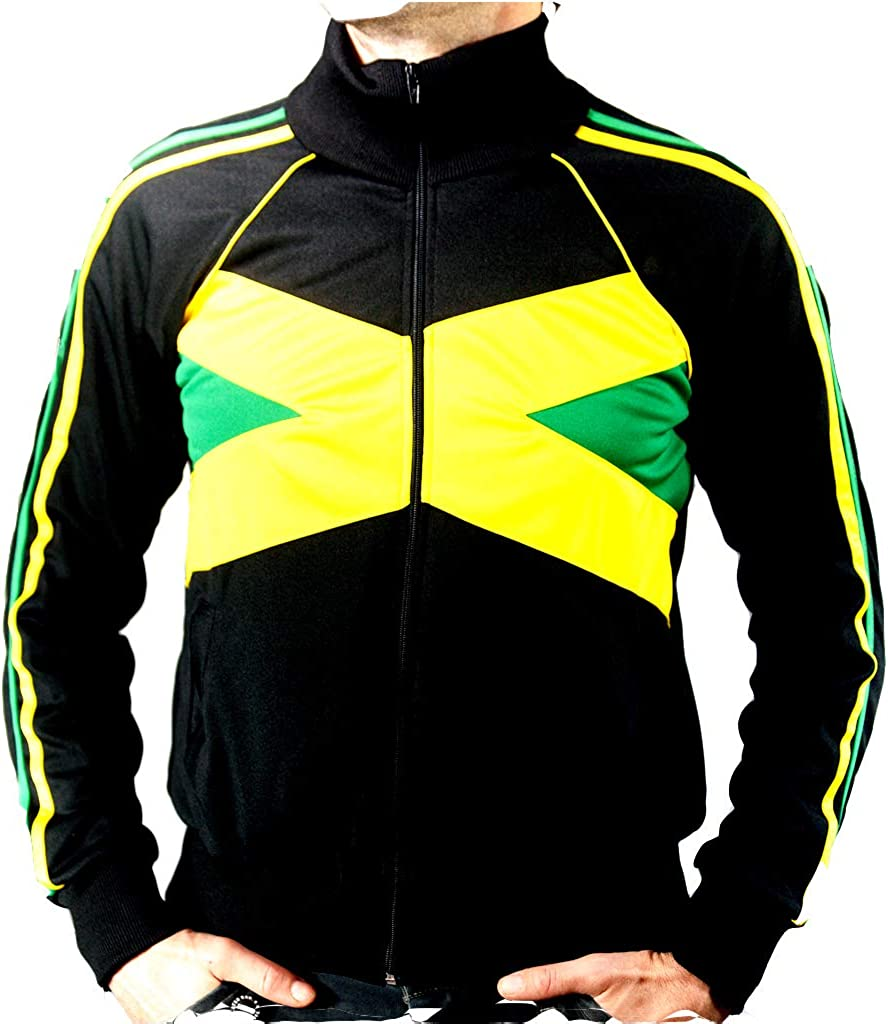 UHari Chaqueta Sudadera Rasta Reggae Jamaica Rastafari Unisex Cremallera Bolsillos Todas Tallas