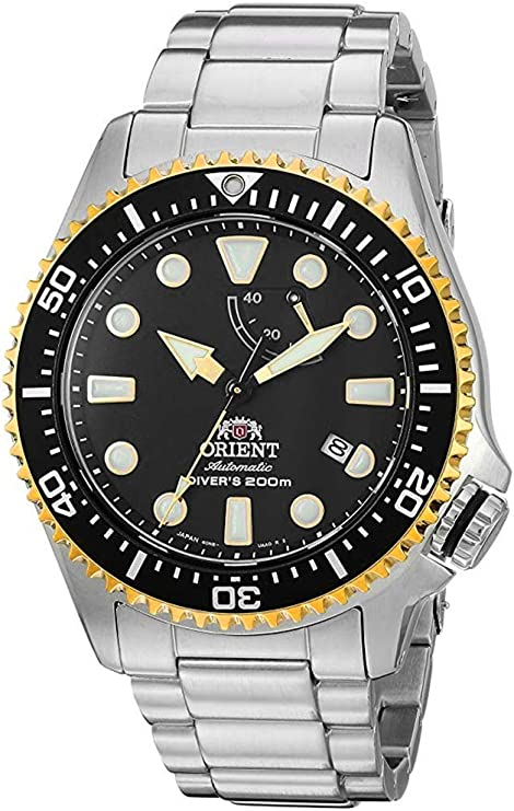 """Orient Men's """"Neptune"""" Japanese Automatic / Hand-Winding JIS Certified 200 Meter Diver's Watch with Sapphire Crystal"""
