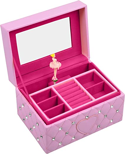1x Ballerina Musical Jewelry Box Music Storage Box for Kids Gifts
