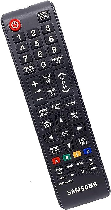 Samsung BN59-01175N - Mando a Distancia de Repuesto para TV, Color Negro: Amazon.es: Electrónica