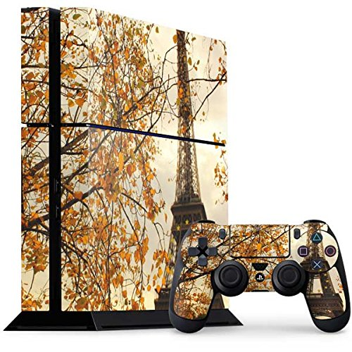 Scenic Cities PS4 Console and Controller Bundle Skin - Paris Eiffel Tower Surrounded by Autumn Trees | Photography X Skinit Skin