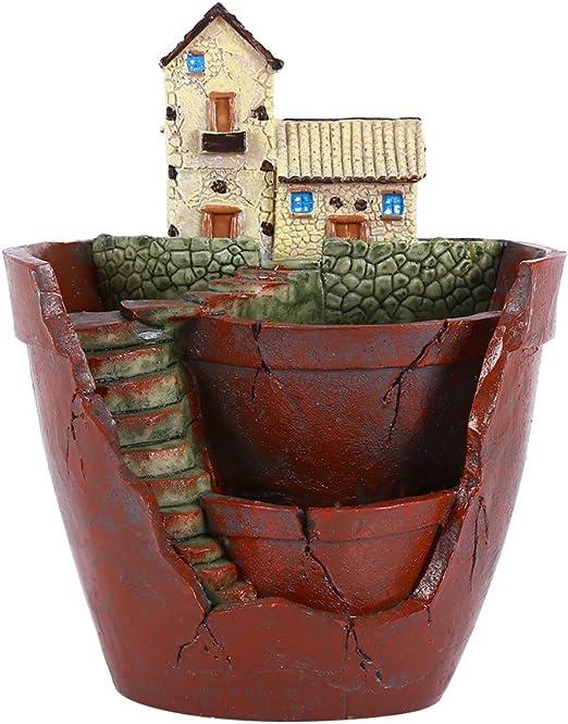 Maceta Resina, Maceta Creativa para Plantar la Decoración y Cactus ...