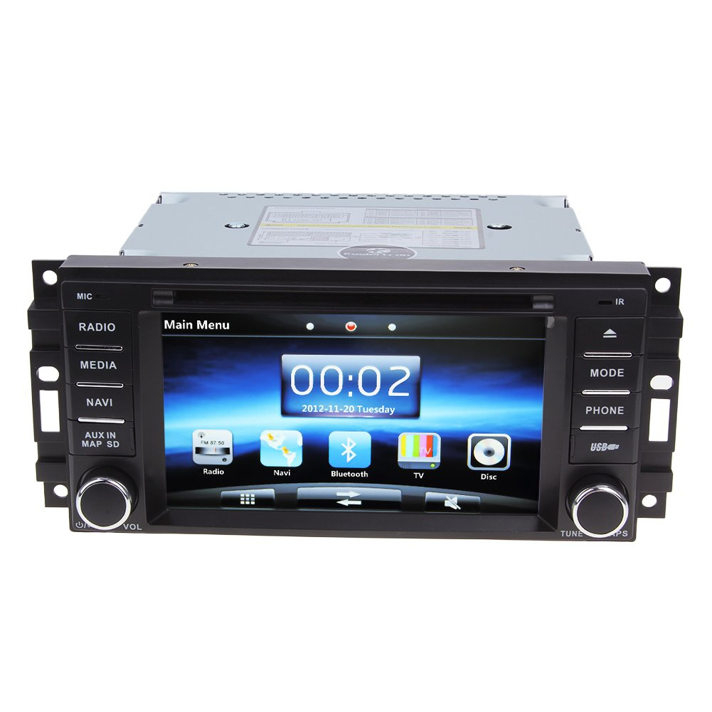 Koolertron 6 inch car radio gps nav system for chrysler amazon co uk electronics
