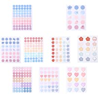 BESPORTBLE 9pcs Stationery Sticker DIY Peel- Off Stickers Small Kawaii Flower Heart Diary Travel Journal Paper Sticker…