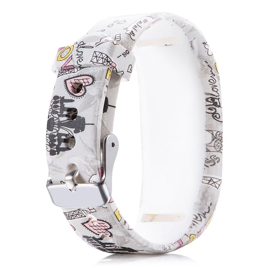 JR2 Junior Tracker Dactivit/é Silicone Bande de Remplacement R/églable Sangle Cuigu Bracelet pour Garmin VivoFit JR