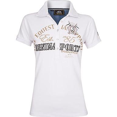 HV Polo - Polo - Logotipo - Básico - Clásico - para Mujer Blanco ...