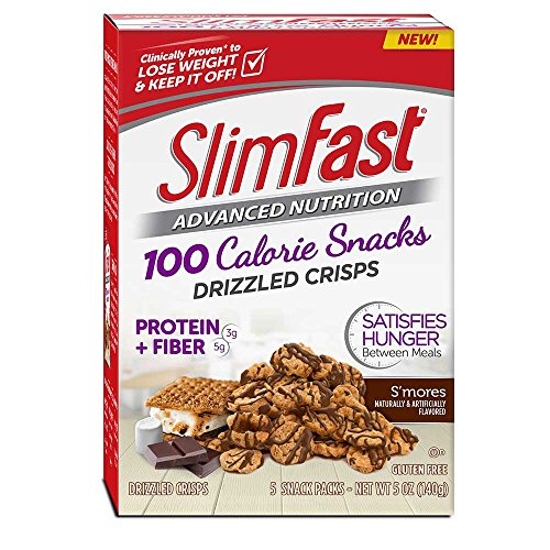 (SlimFast Advanced 100 Calorie Smores Drizzled Crisps, 1 Ounce -- 10 per case.)