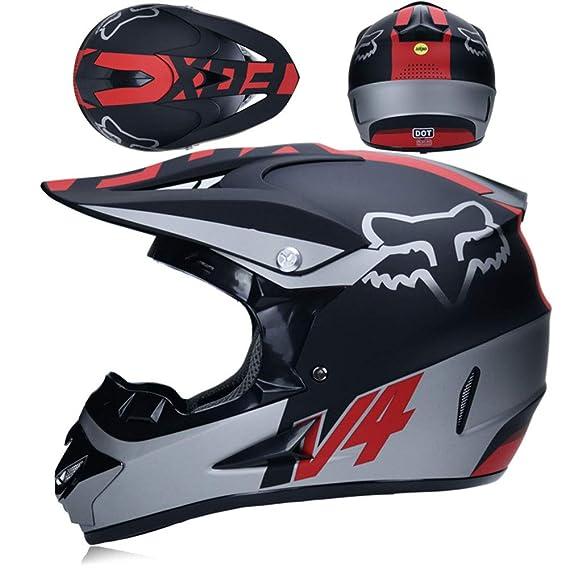 WZFC Casco Motocross Eduro Homologado Casco De Moto Cross Integral para Mujer Hombre Adultos (Modelo-Fox-6): Amazon.es: Deportes y aire libre