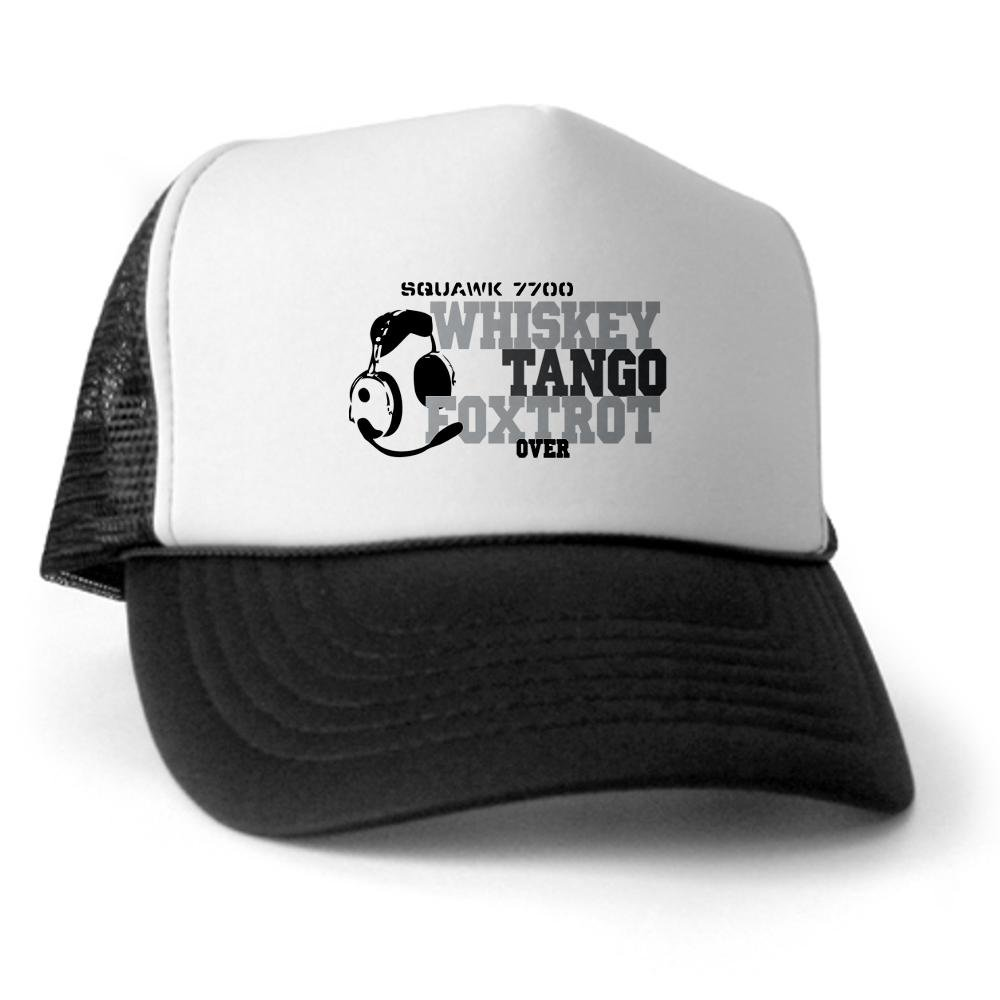 2e509b7aeb6cf1 Amazon.com: CafePress - Aviation Trucker Hat - Trucker Hat, Classic  Baseball Hat, Unique Trucker Cap Black/White: Clothing