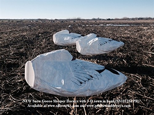 (Sillosocks Sleeper Snow Goose Windsocks Decoys 1 dz. (SS1012SLPR) by Sillosock)