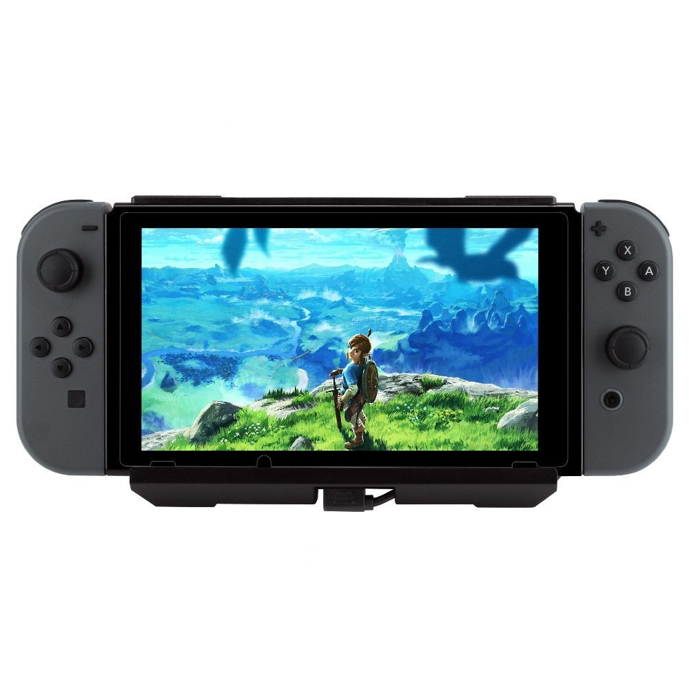 Charging Case for Nintendo Switch, Wetoph GD15 10000mAh High Capacity Charger Case Portable with Adjustable Kickstand for Nintendo Switch Console(Third Party Product)-Black