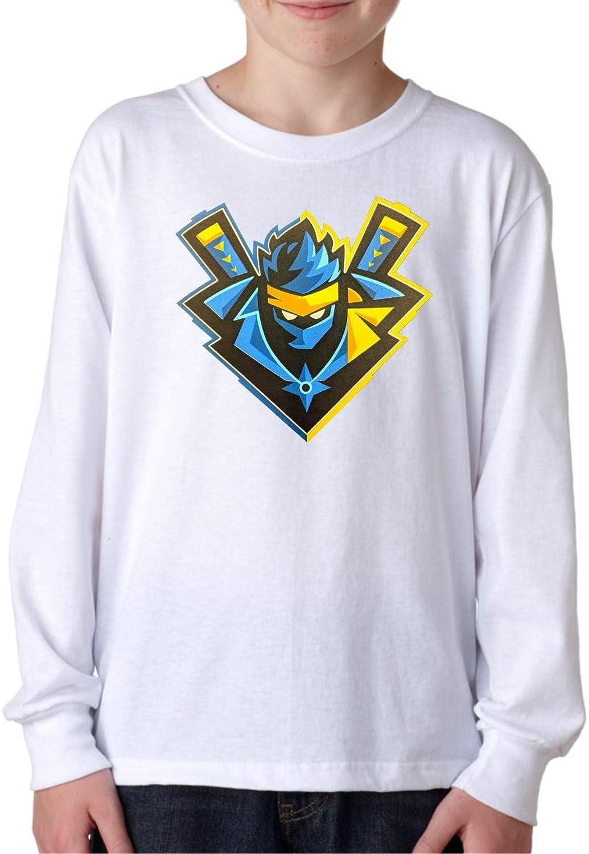 Amazon.com: MYOS Youth for-tnite Ninja Logo White Long ...