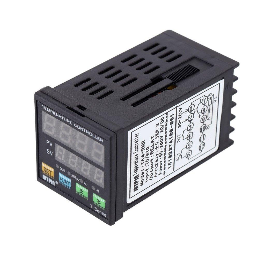 Providethebest Temperatura MyPin TA4-RNR PID Digital LED Controller Term/ómetro de calor de refrigeraci/ón de control RNR 1 alarma de salida de rel/é TC//RTD termostato