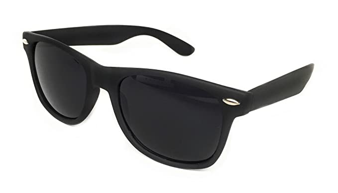 0c251566984 WebDeals - Color Mirror Reflective Lens and Dark Horn Rimmed Large Square  Sunglasses (Black