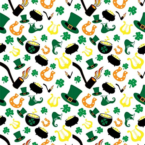 - Leyiyi 8x8ft Happy St Patrick's Day Backdrop Leprechauns Hat Boot Banner Shamrock Horseshoe Background Erin Go Bragh Clover Witch Soup Tobacco Pipe Adult Carnival Portrait Vinyl Prop Studio Wallpaper