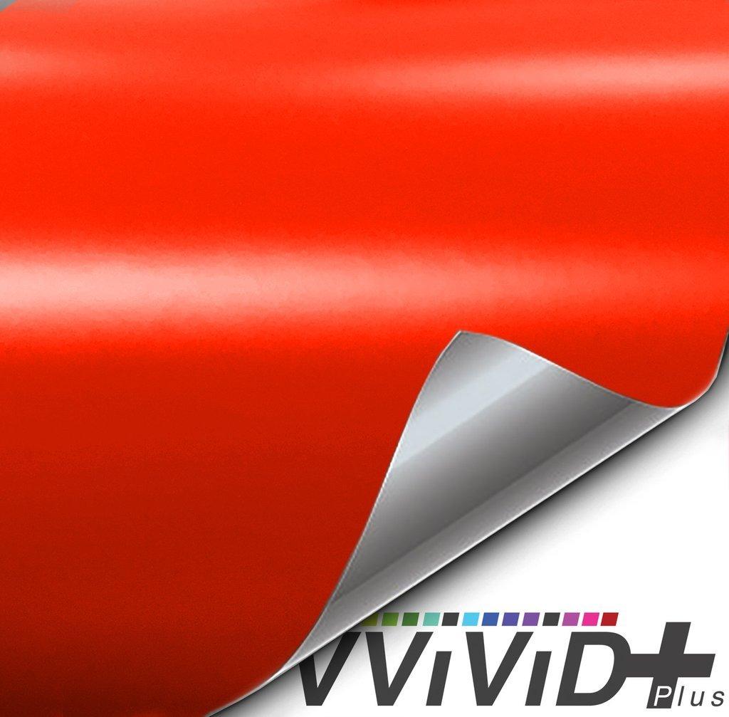 Premium Vinyl Wrap Film 3ft x 5ft, Gloss Arancio Argos Red Orange VViViD