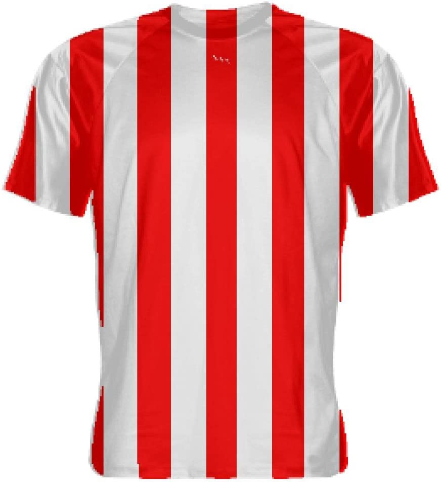 Red and White Soccer Jerseys