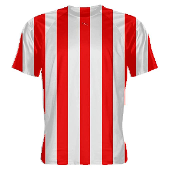 competitive price 4e152 d7948 Amazon.com: Youth Red and White Soccer Jerseys - Striped ...