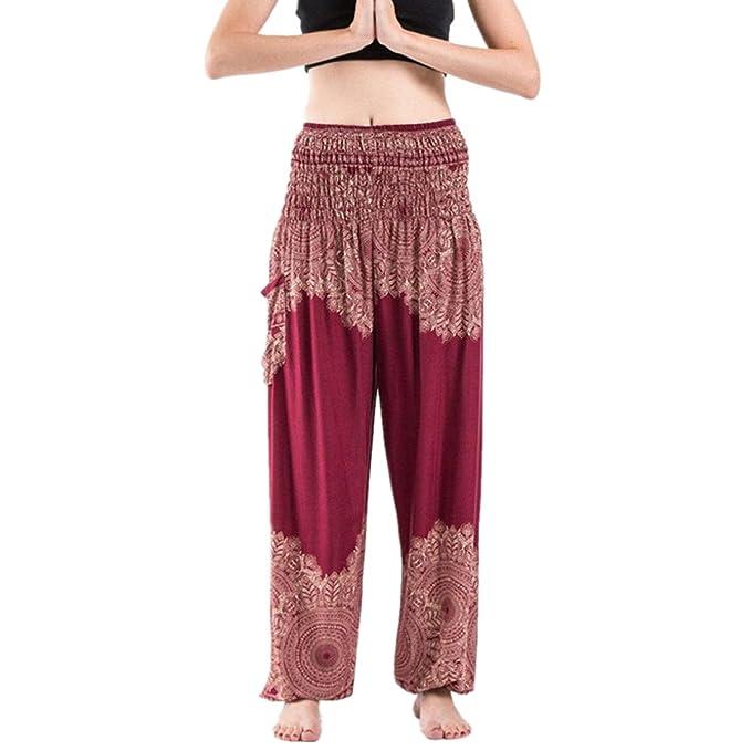 DAYLIN Hombres Mujer Pantalones Harem Boho Hippy Cintura ...