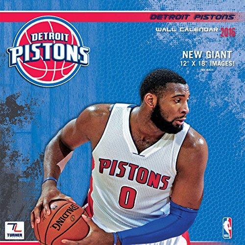 """Turner Detroit Pistons 2016 Team Wall Calendar, September 2015 - December 2016, 12 x 12"""" (8011877)"""