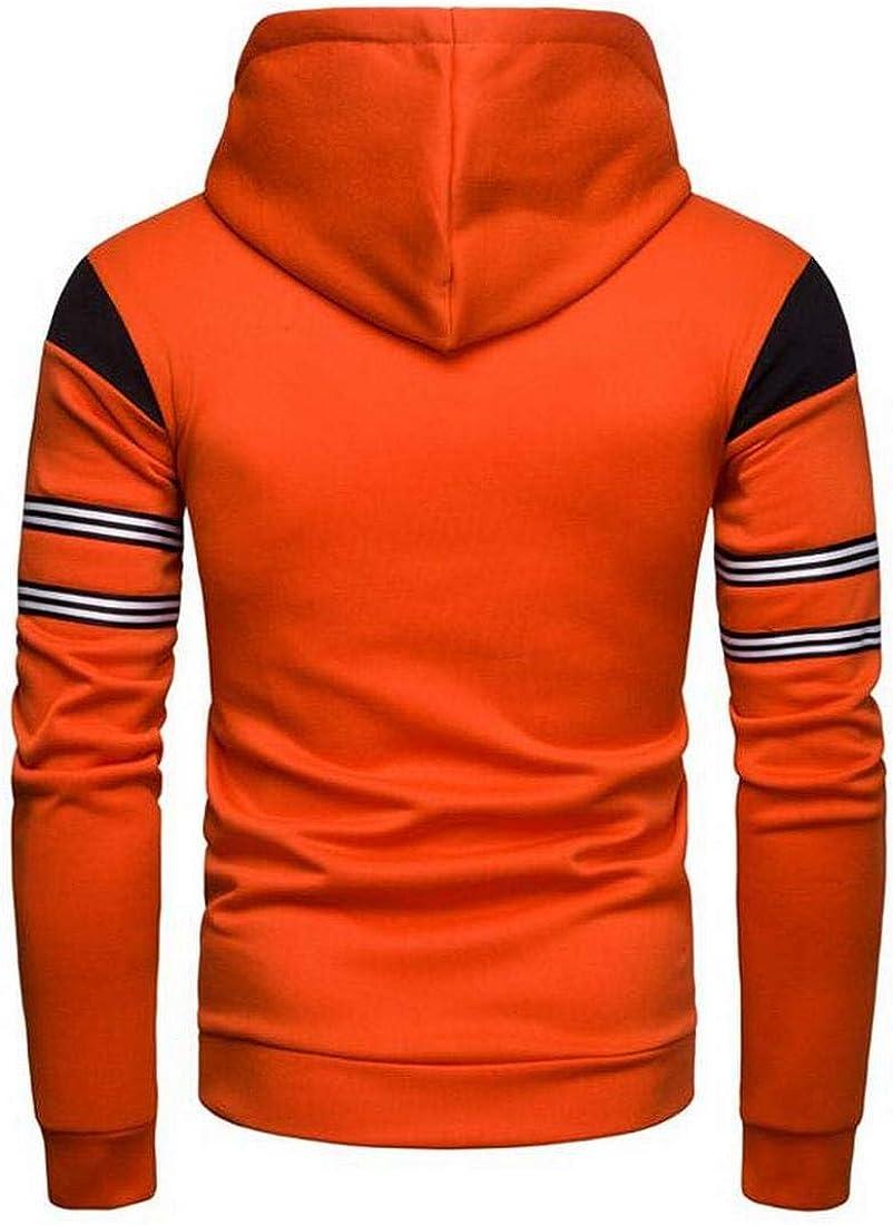 XiaoTianXinMen XTX Men Casual Sport Contrast Full-Zip Drawstring Bodybuilding Hooded Hoodie Sweatshirts Jacket Coat