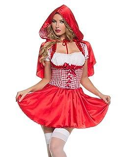 Yunfeng Costume da Strega Vestito dalla Strega Regina di Cuori Costume Regina di Halloween Dress Red Queen Vestito